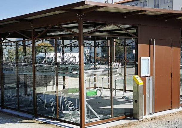 nouveaux abris vélos fermés ALTAO Spacio de La Rochelle