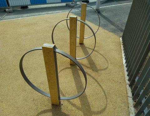 arceaux vélos avec design spécifique