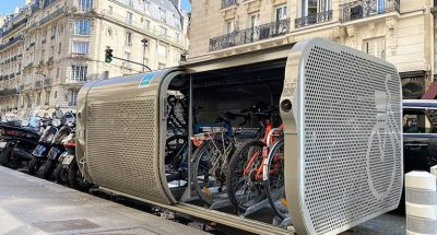 stationnements vélos sécurisés dans un abri vélo ALTAO Pod à Paris