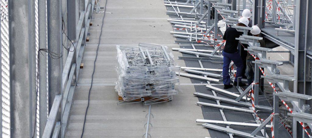 installation de parking vélo Altinnova, aménagements