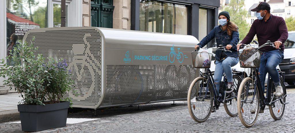 Parking vélo sécurisé d'Altinnova pour la Ville de paris
